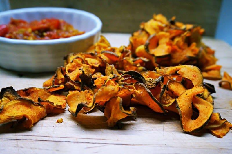 Gesunder Snack: Süßkartoffelchips